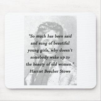 Mousepad Beleza das mulheres adultas - Harriet Beecher