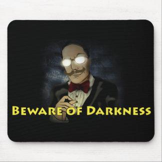 Mousepad Beware do tapete do rato w/Text do logotipo da
