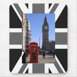 Mousepad Big Ben e caixa de telefone vermelha em Londres