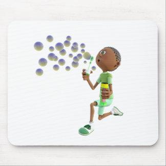 Mousepad Bolhas de sopro do menino do afro-americano dos