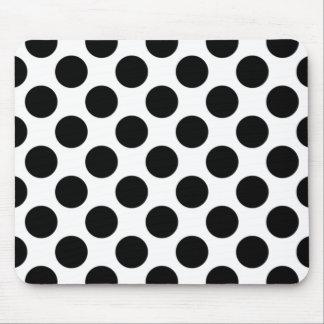 Mousepad Bolinhas preto e branco Mousepad, bolinhas