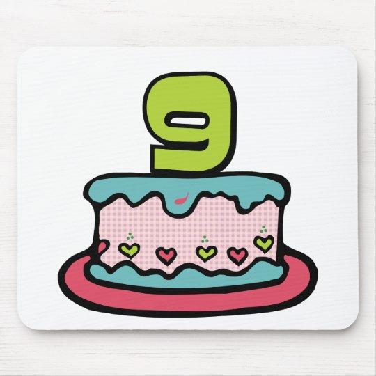 Mousepad Bolo de aniversário da criança de 9 anos