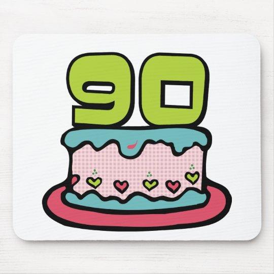 Mousepad Bolo de aniversário das pessoas de 90 anos