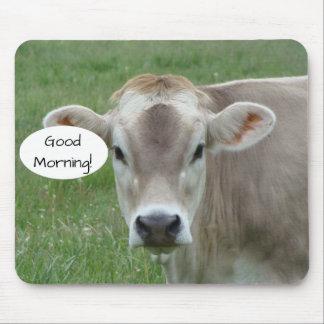 Mousepad Bom dia de sua vaca local do jérsei
