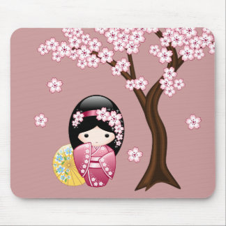 Mousepad Boneca de Kokeshi do primavera - gueixa japonesa