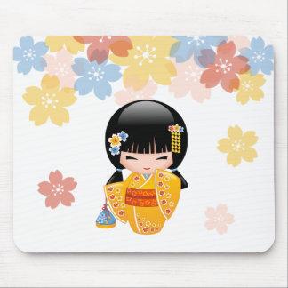 Mousepad Boneca de Kokeshi do verão - menina de gueixa