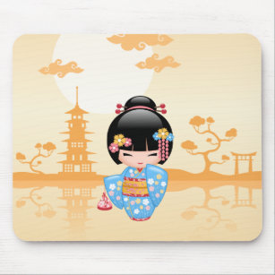 Mousepad Boneca de Maiko Kokeshi - menina de gueixa