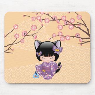 Mousepad Boneca de Neko Kokeshi - menina de gueixa das
