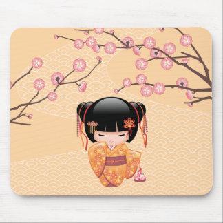 Mousepad Boneca de Ume Kokeshi - menina de gueixa japonesa