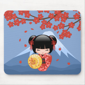 Mousepad Boneca vermelha de Sakura Kokeshi - menina de