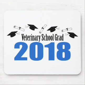 Mousepad Bonés & diplomas do formando 2018 da escola