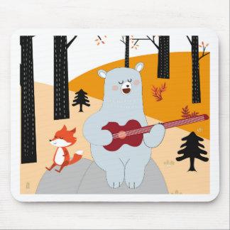 Mousepad Bonito cante um lobo da raposa da canção do verão