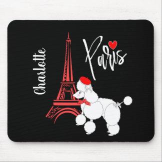 Mousepad Bonito super da caniche francesa de Paris do amor