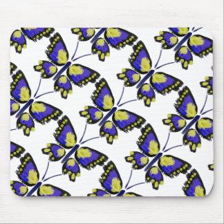 Mousepad Borboleta azul e amarela
