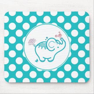 Mousepad Borboleta de turquesa e elefante e flor roxa