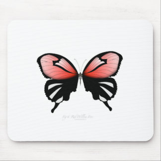 Mousepad borboleta do vermelho do figo 6 por fernandes tony