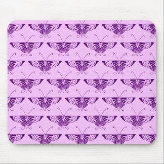 Mousepad Borboleta estilizado do art deco - roxo e orquídea