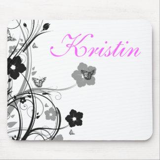 Mousepad Borboletas e flores, tapete do rato pessoal