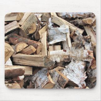 Mousepad Bordo de madeira rachado do álamo do vidoeiro