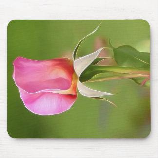 Mousepad Botão solitário do rosa do rosa
