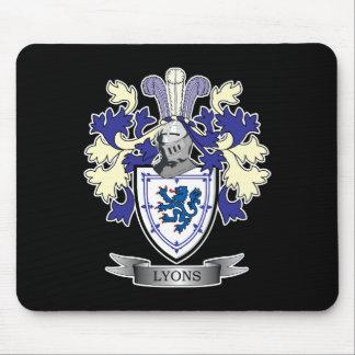 Mousepad Brasão da crista da família de Lyons