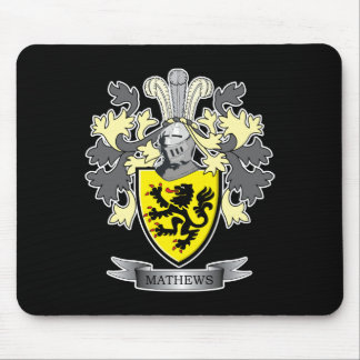 Mousepad Brasão da crista da família de Matthews
