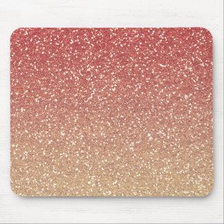 Mousepad Brilho coral do falso do rosa e do ouro