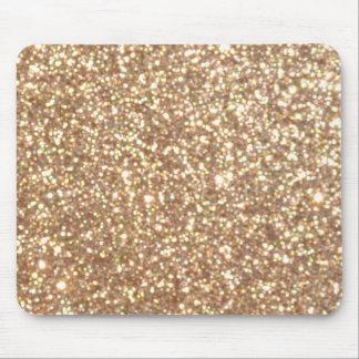 Mousepad Brilho metálico do ouro cor-de-rosa do cobre