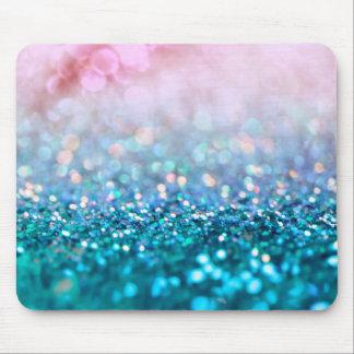 Mousepad Brilho na moda da faísca azul cor-de-rosa da