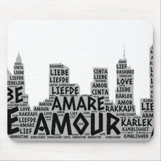 Mousepad Brooklyn New York ilustrada com palavra do amor