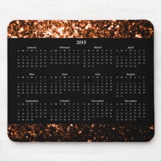 Mousepad Brown alaranjado de bronze sparkles o calendário