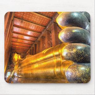 Mousepad Buddha de reclinação gigante dentro do templo, Wat