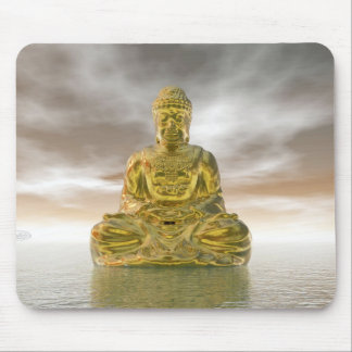 Mousepad Buddha dourado - 3D rendem