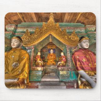 Mousepad Buddhas em um templo