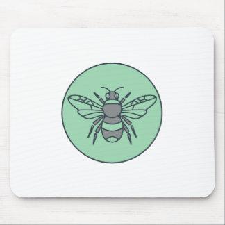 Mousepad Bumble linha do círculo da abelha a mono