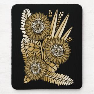 Mousepad Buquê da flor da margarida do Gerbera de Brown
