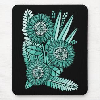 Mousepad Buquê da flor da margarida do Gerbera de turquesa
