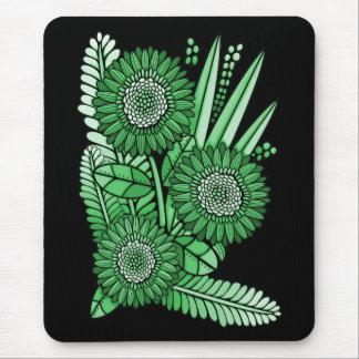 Mousepad Buquê verde da flor da margarida do Gerbera da