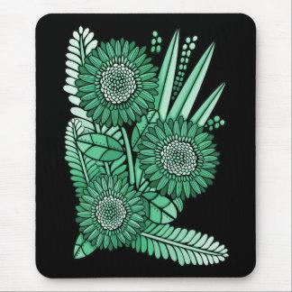 Mousepad Buquê verde da flor da margarida do Gerbera do