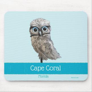 Mousepad Burrowing o coral FL do cabo da pintura da coruja