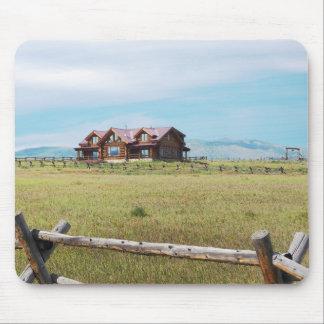 Mousepad cabana rústica de madeira em Colorado