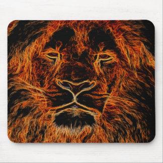 Mousepad Cabeça preta e alaranjada do leão dos grafites