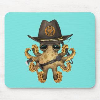 Mousepad Caçador bonito do zombi do polvo do bebê