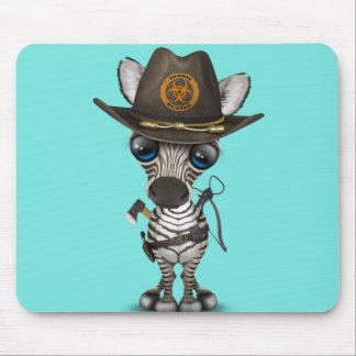Mousepad Caçador do zombi da zebra do bebê