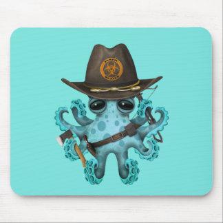 Mousepad Caçador do zombi do polvo do bebê azul