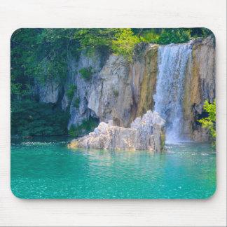 Mousepad Cachoeira no parque nacional de Plitvice em