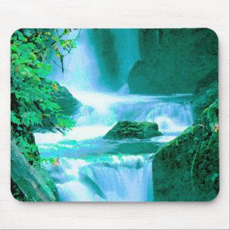 Mousepad Cachoeira sereno no azul e no verde