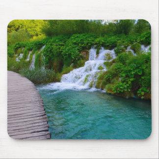 Mousepad Cachoeiras no parque nacional de Plitvice em