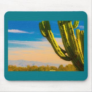 Mousepad Cacto do Saguaro do deserto no céu azul