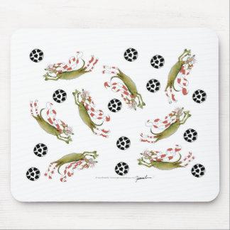 Mousepad cães do futebol dos vermelhos